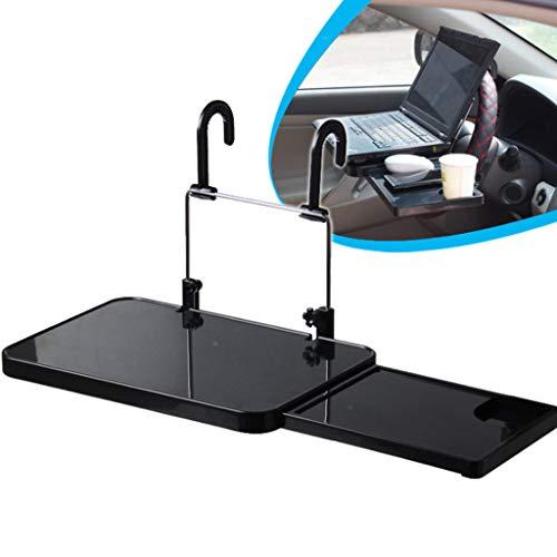 TriLance Tragbares Auto Arbeitsplatz Auto Computer Gestell mit Fach Autoschreibtisch,Faltbarer Laptop Schreibtisch Laptop Notebook Ständer rgonomischer Tisch Tablet Halterung (Black)