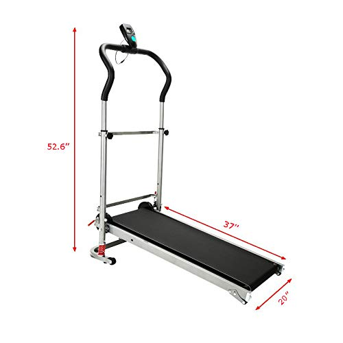 INTBUYING Walking Treadmill Foldable Non-Electric Treadmill Houssehold Exercise Equipment Fitness