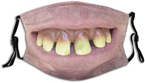 Funny Tooth Face Mask Comfortable Balaclavas Reusable Bandana Adjustable Scarf For Adult With product image