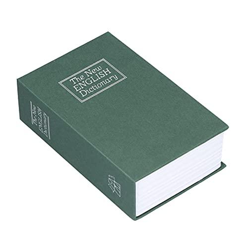 Juicemoo Money Book Box, innovadora caja de seguridad con interior de acero inoxidable para monedas, documentos, joyas para casa, oficina o viajes