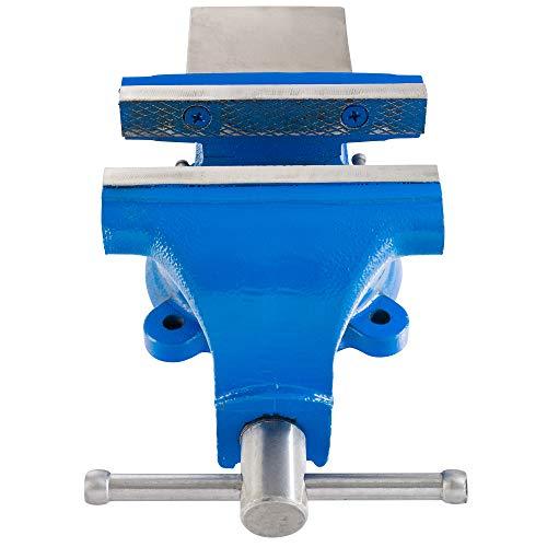 Arebos Étaux parallèle d'établi acier avec enclume plateau tournant 360° / 100, 125 ou 150 mm (125 mm)