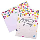 Invitations for Birthday Party - 20 Cards with Envelopes