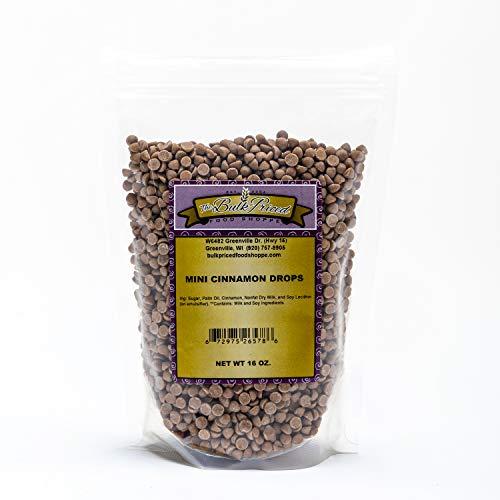 Mini Cinnamon Drops, Bulk Size, Baking Chips (1 lb. Resealable Zip Lock Stand Up Bag)