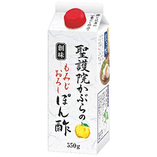 創味食品 創味 聖護院かぶらのもみじおろしぽん酢 550g紙パック×6本入