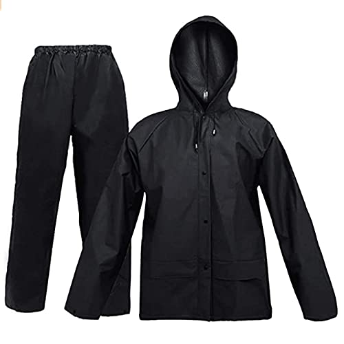 Rain Suit for Men Women EVA Ultra-Lite Waterproof Protective Rain Coat Jacket with Pants Rain Gear Workwear(Medium)
