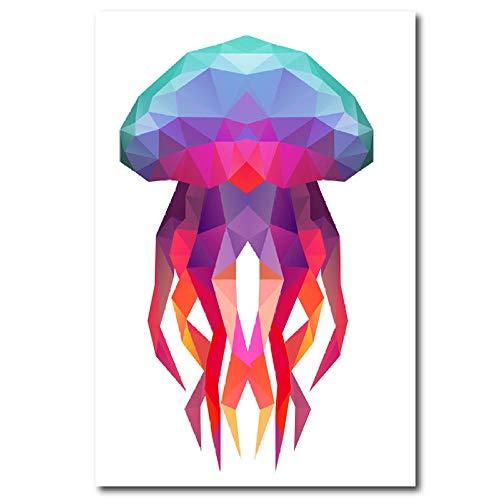 wZUN Lienzo Abstracto Medusas Impresiones artísticas y Carteles imágenes de Medusas Sala de Estar decoración del hogar 60X90cm Sin Marco