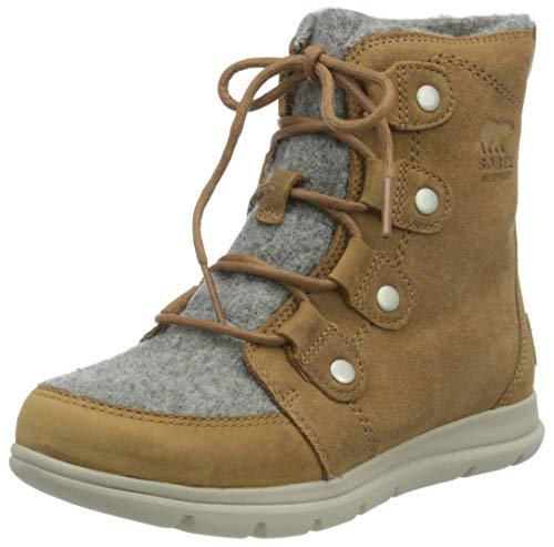 Sorel - Women's Explorer Joan Waterproof Insulated Winter Boot, Camel Brown, 7.5 M US