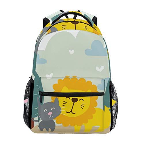 Jojogood Animals Best Friend School Bookbags Shoulder Laptop Daypack College Bag for Student Travel Backpack
