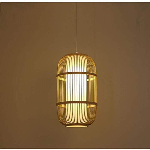 Los Cristales for lámparas de Techo, bambú Permetral Luz Antigua Hecha a Mano de bambú de la lámpara de iluminación Restaurante Pasillo Pasillo Linterna/Birdcage Decoración de la lámpara