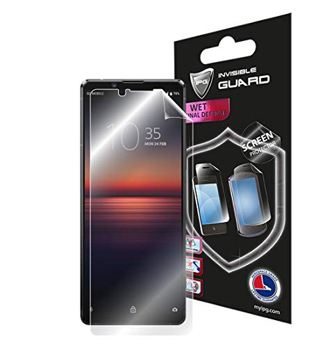 protector for xperia IPG for Sony Xperia 1 II - 1 ii Screen Protector Invisible Touch Screen Sensitive Ultra HD Clear Film Anti Scratch Skin Guard - Smooth/Self-Healing/Bubble -Free Screen