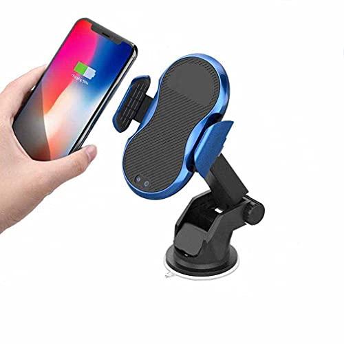MRTYU-UY Cargador de coche inalámbrico rápido,Soporte de coche de sujeción automática de carga rápida de 10 W, soporte para teléfono de ventilación de parabrisas, para iPhone Xs MAX Samsung