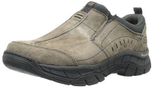 Skechers Sport Men's Rig Mountain Top Relaxed Fit Memory Foam Sneaker,Brown,10 M US