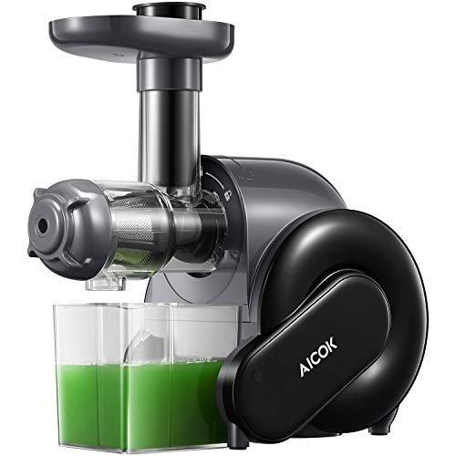 Juicer Machines, AICOK Masticating Juicer with Easy to Clean Brush & Quiet...