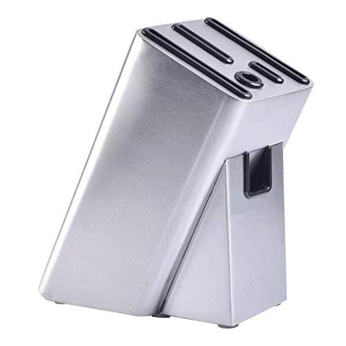 WECDS-E Portacuchillos de Acero Inoxidable Moderno Bloque de Cuchillos Universal de Acero Inoxidable Organizador de Almacenamiento Porta Cuchillos