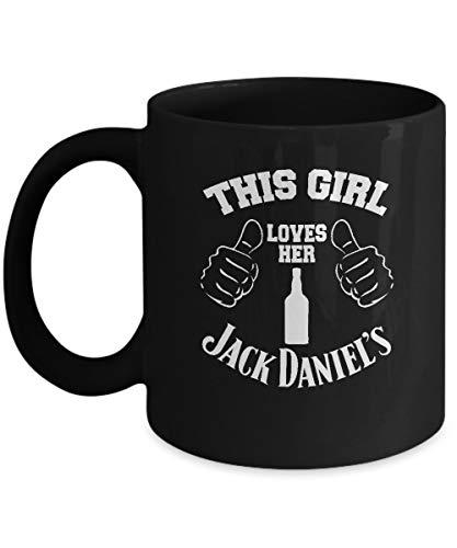 This Girl Loves Her Jack Daniels Kaffeetasse für Jack Daniels Loving Women and Drinks Lovers Wine Black Coffee Teetassen, 325 ml, Schwarz