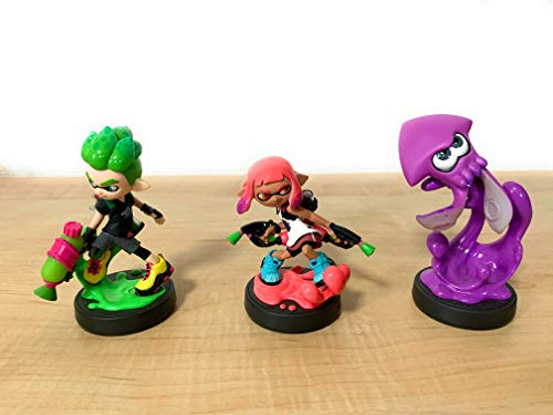 Splatoon 2 amiibo 3 sets (Girl Neon Pink, Boy Neon Green, Squid Neon Purple) (Splatoon series) …