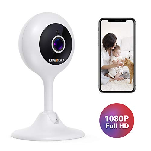 OWSOO Baby Monitor, Home Security Camera 1080P FHD 2.4G WiFi Camera with Two-Way Audio Motion&Sound Detection Night Vision for Baby/Pet/Nanny/Elderly Compatible with iOS & Android System Cameras Dome