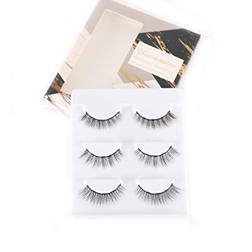 Yiwamica Magnetic Eyelashes to Use with Magnetic Eyeliner 5 Magnets False Lashes 3 Style (Best Way To Remove Fake Eyelashes)