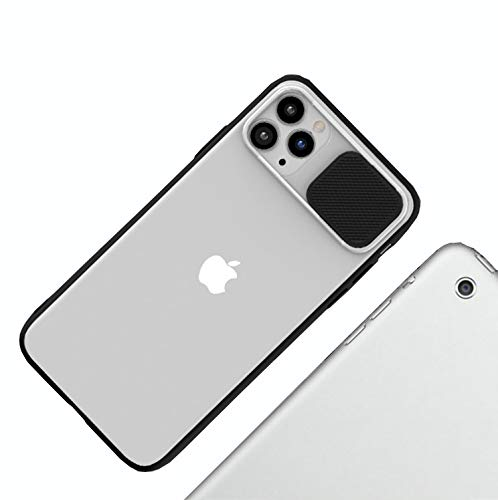 NDJqer Sliding Lens Camera Protection Case For iPhone 11 Pro MAX Transparent Matte Cover for iPhone X XR XS MAX 7 8 Plus Cases-Black-for 11 Pro MAX