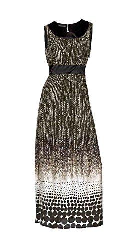 Patrizia Dini Maxikleid, Damen-Kleid, schwarz/weiß (42)