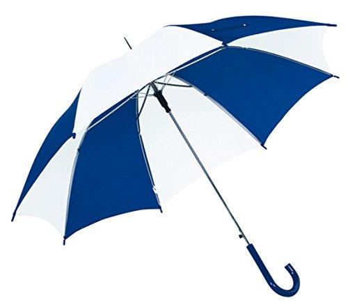 Stockschirm Automatisch blau weiß Schirm Durchmesser 103cm Regenschirm Speichenlänge ca. 59cm