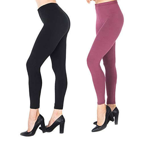 NUUR Damen Leggings Sporthose Hohe Taille Yogahose für Alltag, Yoga, Jogging Einheitsgröße/Plusgröße