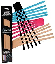 Kinesio Classic Fan Cut Edema Strips (12 Pack with 4 Different Colors)