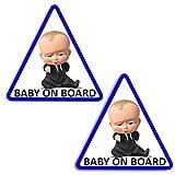 Biomar Labs® 2 x Adesivi Vinile Stickers Autoadesivi Decalcomania Bebè A Bordo Baby On B...