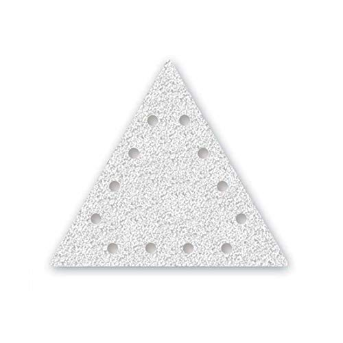 MENZER White Discos Abrasivos Triangulares con Velcro, 290 x