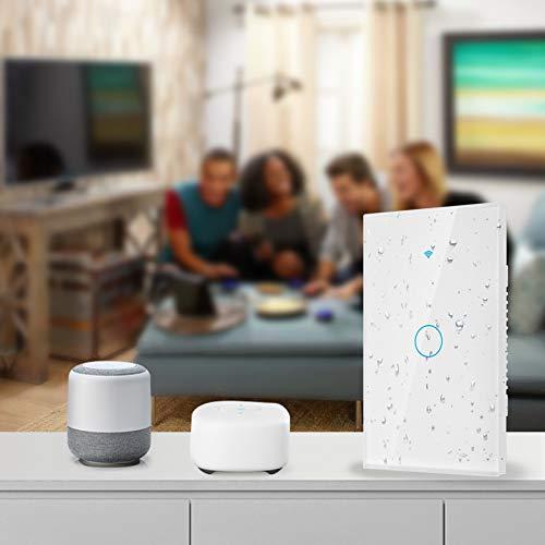 Smart Switch, WiFi Switch Panel, 2.4Ghz para Uso en la Oficina Escena Inteligente Uso doméstico(White, U.S. regulations)