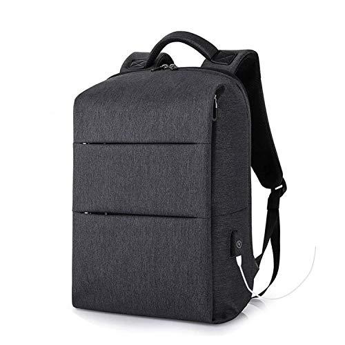 Mochilas para ordenador portátil de 15,6 pulgadas, para viajes y mujeres, bolsas de equipaje con carga USB, negro, gris
