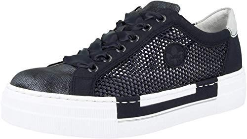 Rieker Damen Frühjahr/Sommer N4997 Sneaker, Blau (Nightblue/Pazifik/Schwarz-Navy/Ice 14), 42 EU