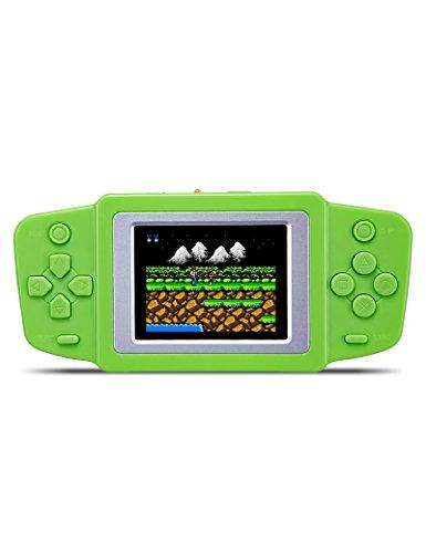CZT Console Portatile con videogiocatore LCD da 2,5 Pollici (3 x AAA) o Batteria Li-polimero 268 in 1 palmari (Verde)