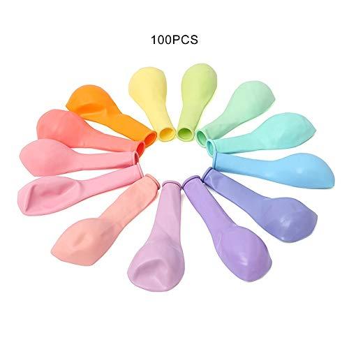 Feketeuki Lleno de Elasticidad, no es fácil de explotar Los Globos Macarons están espesados con Globos de látex Globos Festivos para Bodas - Colores múltiples