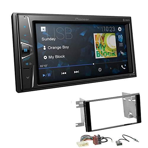 Pioneer DMH-G220BT 2-DIN Autoradio Mediacenter Bluetooth USB AUX passend für Subaru Impreza 2007-2012 Klavierlack schwarz