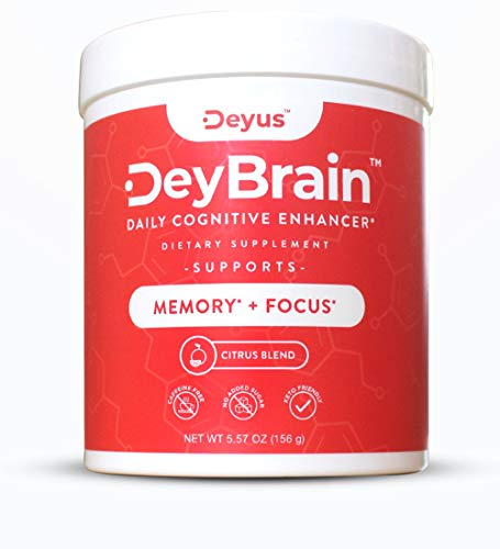 NEW Deyus DeyBrain - Nootropic Brain Booster Supplement | Enhance Memory, Focus & Concentration | Keto Friendly | Boost Cognition w/ Vitamin B6 | Alpha GPC | Theanine | Bacopa Monnieri | Huperzine A