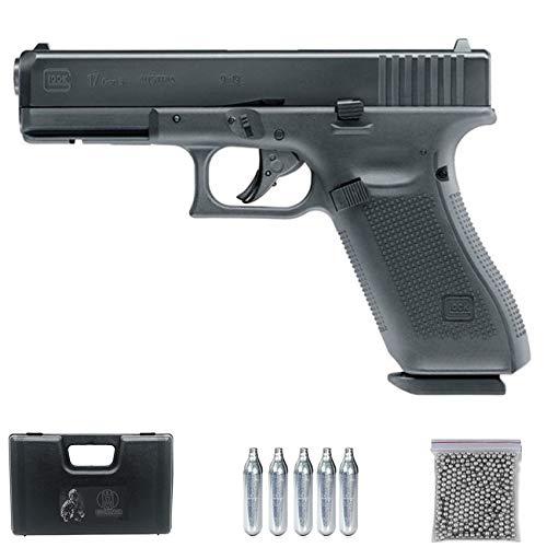 Ecommur Glock 17 Gen 5 blowback CO2 | Pistola de balines (Bolas BB's de Acero) y Aire comprimido Calibre 4.5mm