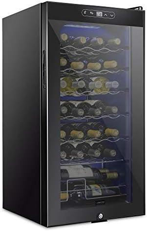 Schmecke 28 Bottle Compressor Wine Cooler Refrigerator w Lock Large Freestanding Wine Cellar product image