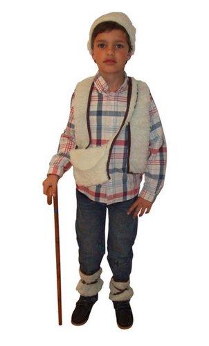 Atosa Costume de berger pour enfant Taille 3-4 ans