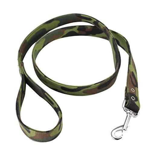 quanjucheer Hundeleine, 120 cm, verstellbar, Camouflage-Muster, bequem, strapazierfähig