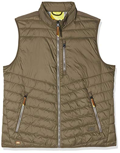 Camel Active Herren Weste-STEPP Sportweste, Braun (Light Brown 27), Large (Herstellergröße: 50)