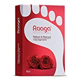 Raaga Professional Manicure Pedicure Rose 12 Sachets 63 g, Red