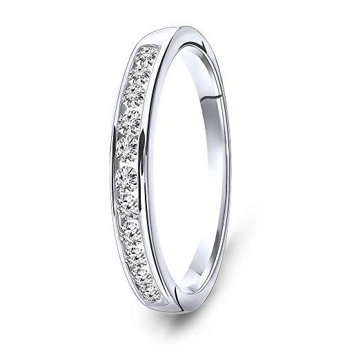Miore anillo de eternidad con diamantes 0.33 quilates para mujer en oro blanco 14 quilates