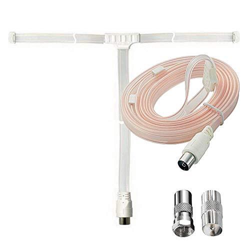 erenLINE® Digitale DAB+ Wurfantenne, Radio-Antenne 75 Ohm, Zimmerantenne, mit 2 Anschluß-Adaptern