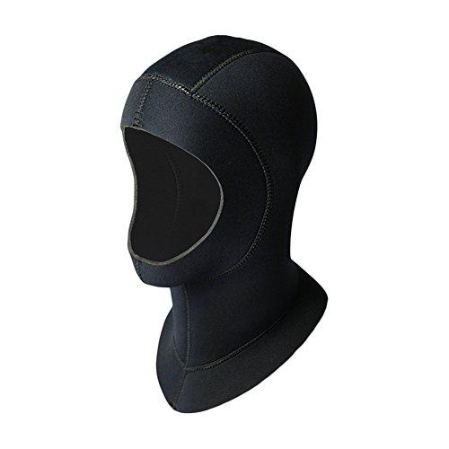 Pueri Neoprenhaube Tauchhaube 5mm schwarz Unisex Erwachsene 5mm Neoprenhaube Tauchhaub Kopfhaub Schnorcheln Tauchkopfhauben für Outdoor und Tauchen (M)