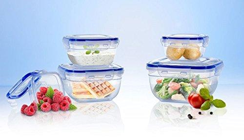 Original Click´n Store Frischhaltedosen-Set 5tlg. #802321 / 100% luft- und wasserdicht / hitze- und kältebeständig