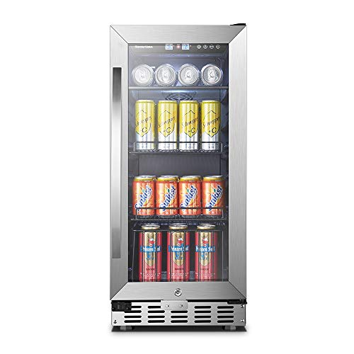 Sinoartizan Under Counter Beverage Cooler, 15 Inch Wide 70 Cans