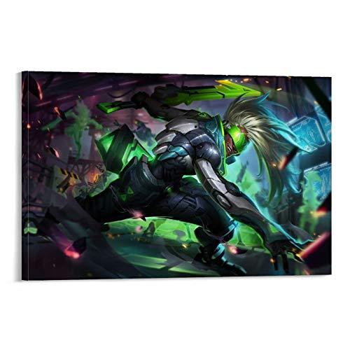 ZMSS Póster de League of Legends Project Ekko, cuadro decorativo, lienzo de pared, póster para salón, dormitorio, 60 x 90 cm