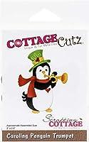 """CottageCutz Dies-Caroling Penguin Trumpet 2""""X2.6"""""""