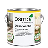 Cera decorativa de color transparente Osmo0,75 litros.